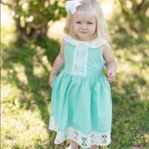 Lace Mint Colored Dress